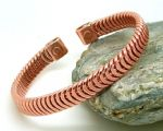M18: Copper Magnetic Herringbone Bracelet